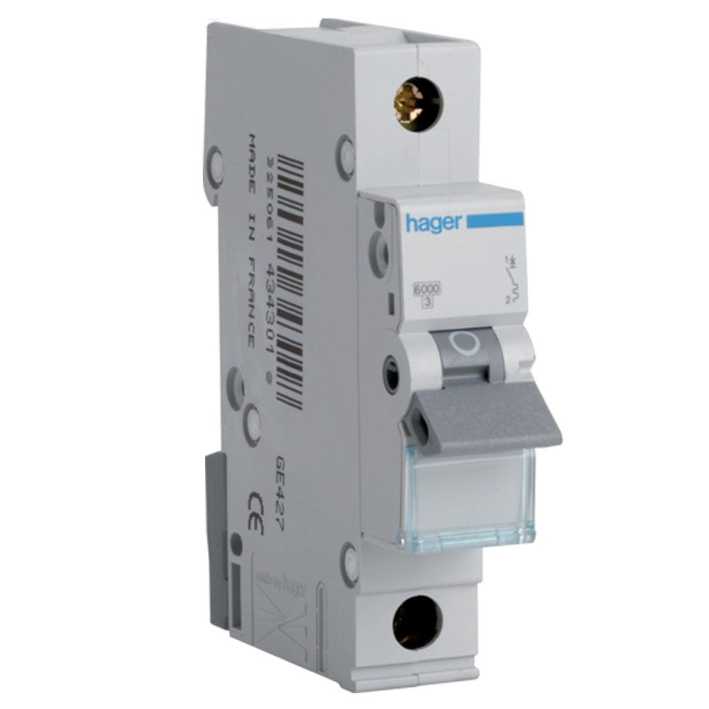 Hager MTN110 10A Type B SP MCB