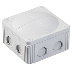 Wiska Combi 308/5 85x85 Grey Waterproof Junction Box