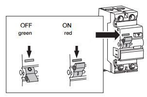 Positive contact indication on RCD switch