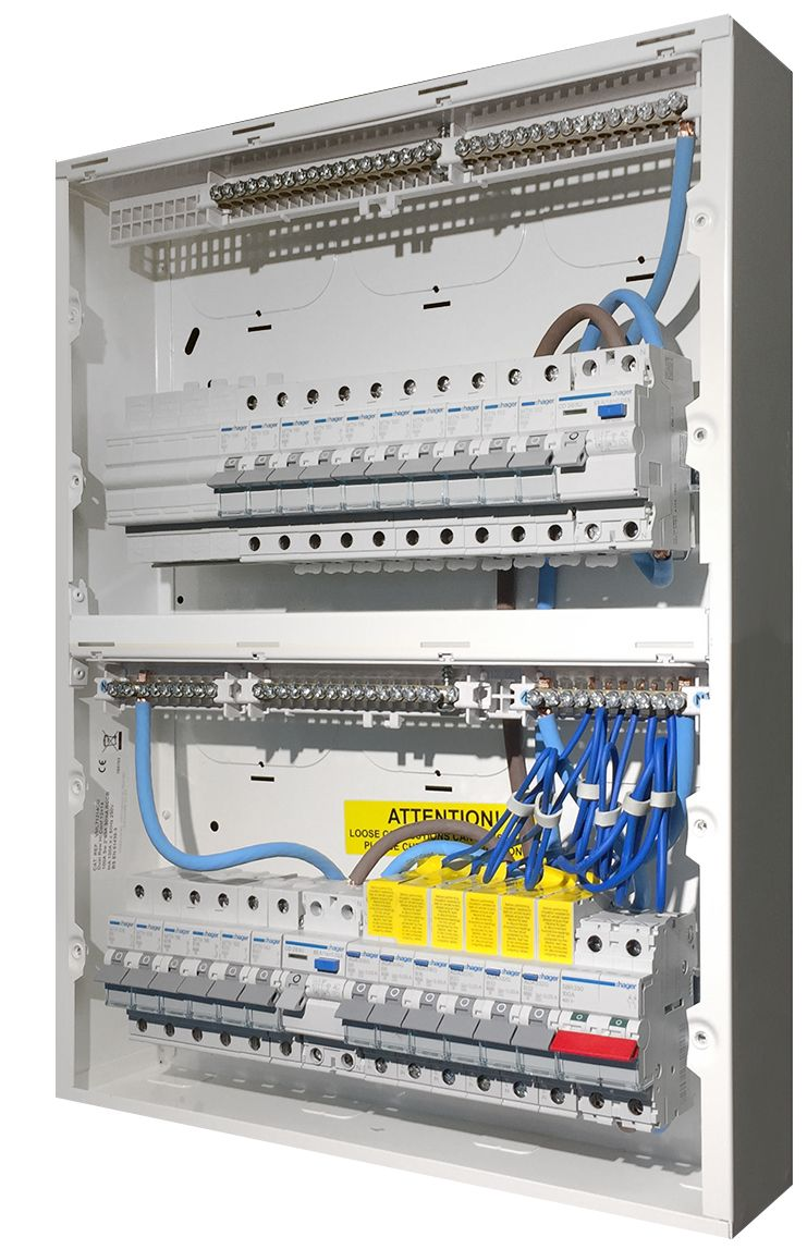 High Integrity Consumer Unit populated with protection devices